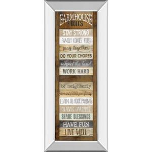 """Farmhouse Rules Shutter"" By Marla Rae Mirror Framed Print Wall Art"
