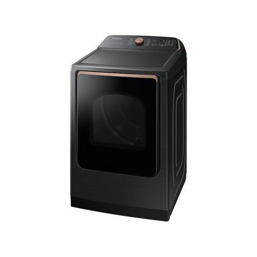 Samsung - 7.4 cu. ft. Smart Gas Dryer with Steam Sanitize+ in Brushed Black