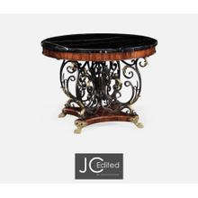 Baroque Wrought Iron & Brass Centre Table