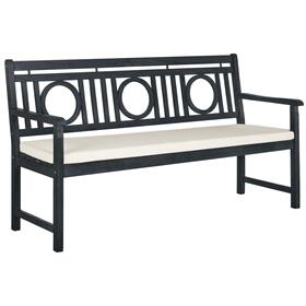 Montclair 3 Seat Bench - Dark Slate Grey / Beige