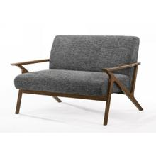 Modrest Candea - Mid-Century Walnut and Grey Loveseat