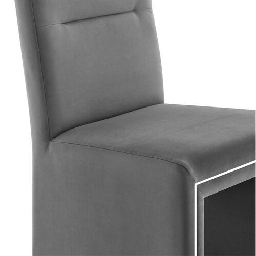 Jaffa Grey Performance Velvet Dining Chair
