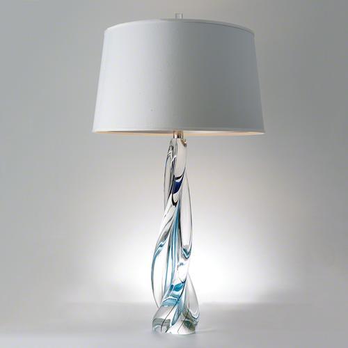 Ocean Twist Lamp w/Silk Shade