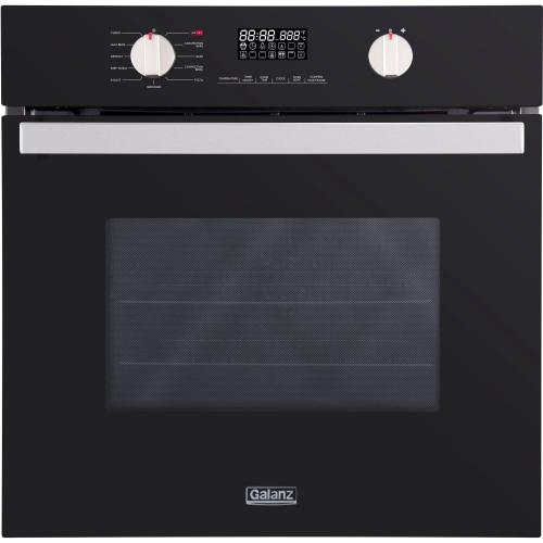 """Galanz 24"""" Wall Oven in Black"""