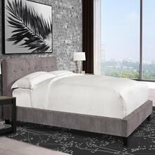Jody Cornflower (Grey) Upholstered Bed Collection