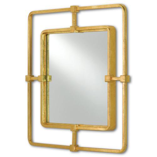 Metro Gold Square Mirror