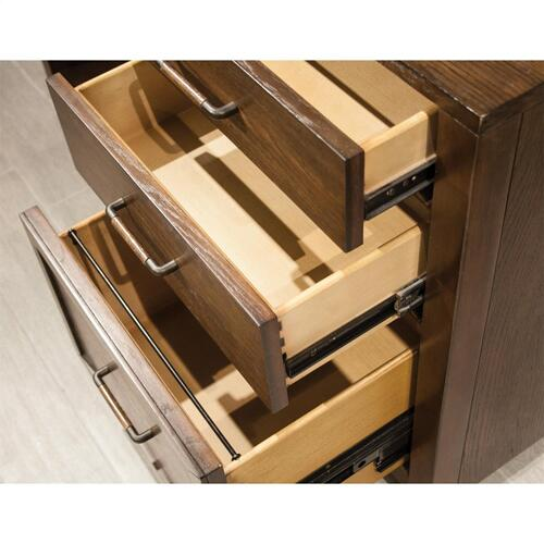 Riverside - Vogue - Computer Credenza - Plymouth Brown Oak Finish