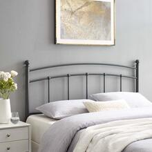 Abigail Queen Metal Headboard in Gray