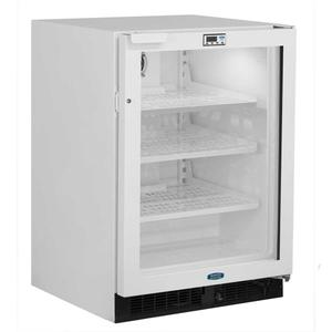 Marvel24-In General Purpose Refrigerator with Door Style - White Frame Glass