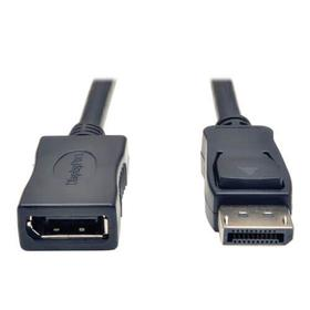 DisplayPort Extension Cable with Latch, 4K @ 60 Hz, HDCP 2.2 (M/F), 6 ft. (1.83 m)