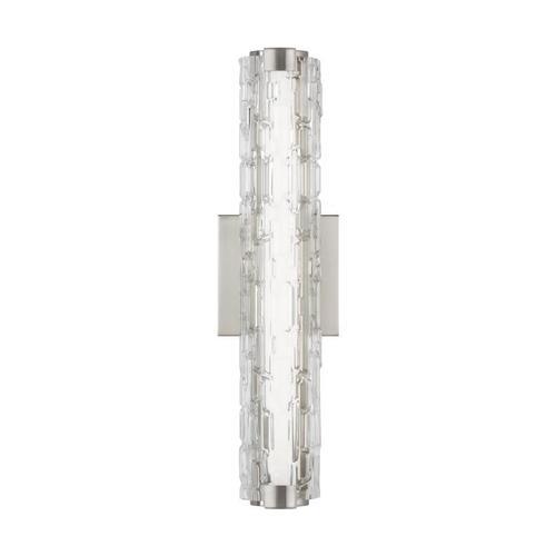 """Cutler 18"""" LED Sconce Satin Nickel Bulbs Inc"""
