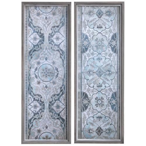 Vintage Persian Panels Framed Prints, S/2