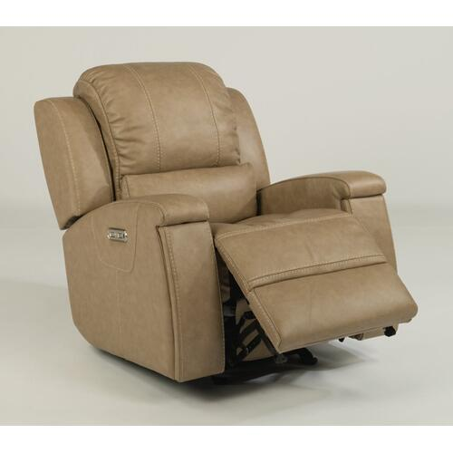 Asher Power Gliding Recliner with Power Headrest