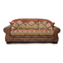 Arizona Two-tone Queen Size Sleeper Sofa In Sedona Salsa