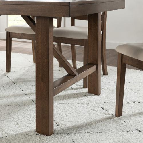 Accentrics Home - Farmhouse Dining Table with Trestle Base