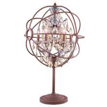 See Details - Geneva 6 light Rustic Intent Table Lamp Golden Teak (Smoky) Royal Cut crystal