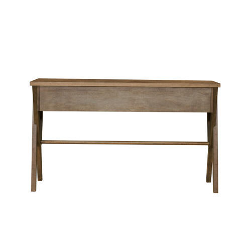 Mid-Century Modern Two Drawer Console Table