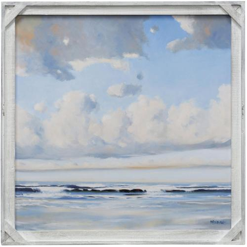 Style Craft - VACATION VIBES  30in X 30in  Made in the USA  Textured Framed Print