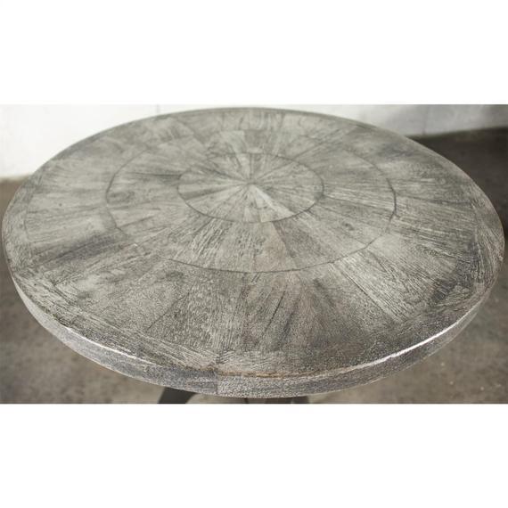 Riverside - Round Bunching Chairside Table - Ashen Gray Finish
