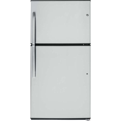 GE 21.2 cu.ft. Top Freezer Refrigerator Stainless Steel GTE21GSHSS
