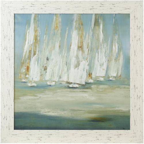Style Craft - REGATTA  43in X 43in  Made in the USA  Textured Framed Print
