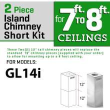 ZLINE Short Kit for Ceilings Under 8 feet ISLAND (SK-GL14i)