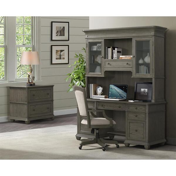 Sloane - Credenza Desk - Gray Wash Finish