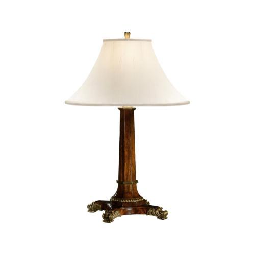 Empire style mahogany table lamp