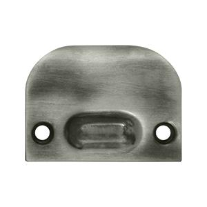 Full Lip Strike Plate For Ball Catch and Roller Catch - Antique Nickel