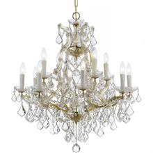 Maria Theresa 13 Light Spectra Crystal Gold Chandelier