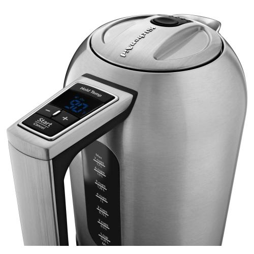KitchenAid - 1.7 L Electric Kettle - Brushed Stainless Steel