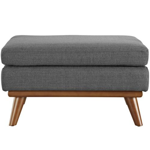 Modway - Engage Upholstered Fabric Ottoman in Gray