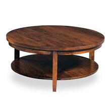 """View Product - Parkdale Round Coffee Table with Shelf, 35 """" Diameter x 18 """"h"""
