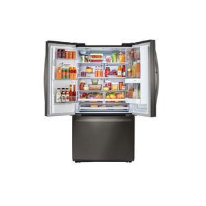 22 cu. ft. Smart wi-fi Enabled InstaView™ Door-in-Door® Counter-Depth Refrigerator - BLACK STAINLESS STEEL