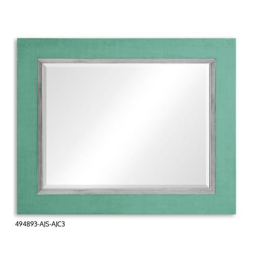 """""""Homespun"""" mirror (Robin's Egg/Silver)"""
