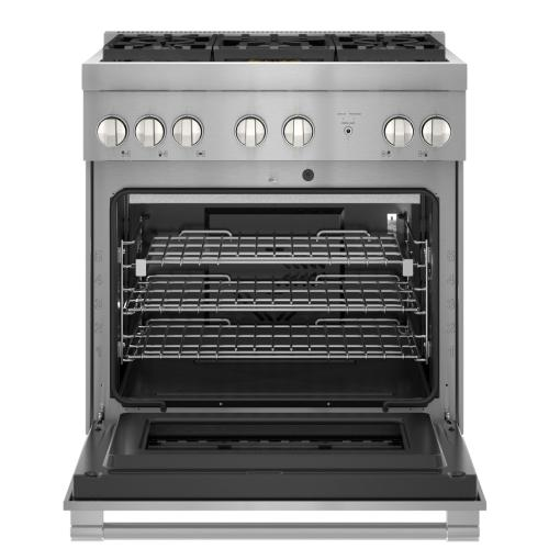 Thermador - Gas Professional Range 30'' Pro Harmony® Standard Depth Stainless Steel PRG305WH