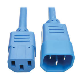 PDU Power Cord, C13 to C14 - 10A, 250V, 18 AWG, 6 ft., Blue