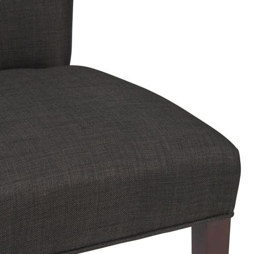 Dresden Fabric Dining Side Chair, Charcoal