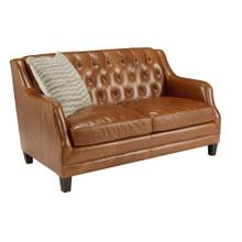 LOVESEAT, CARAMEL LEATHER