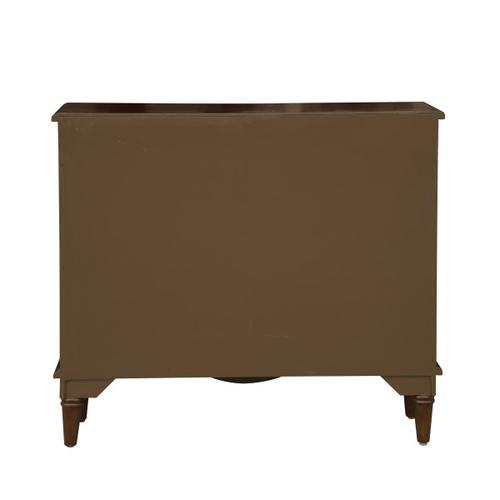 Warm Brown Eclectic Six Door and Two Drawer Accent Chest