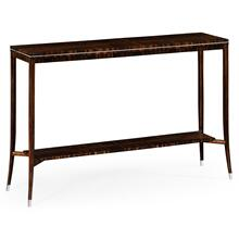 Soho narrow console with white brass detail