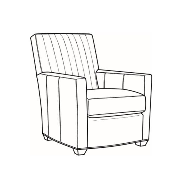 Leather Channel Back Chair