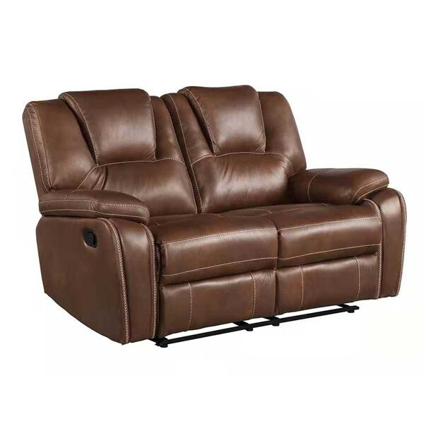 Katrine Manual Motion Loveseat, Brown