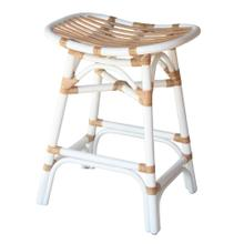 Damara Rattan Counter Stool, White