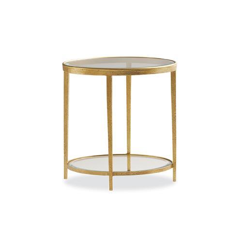 Maitland-Smith - JINX BRASS ROUND SIDE TABLE