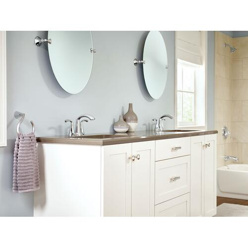 Glyde Chrome two-handle high arc bathroom faucet