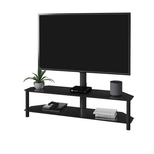 """Triple Play 62"""" TV Stand for TVs up to 65"""", Black"""