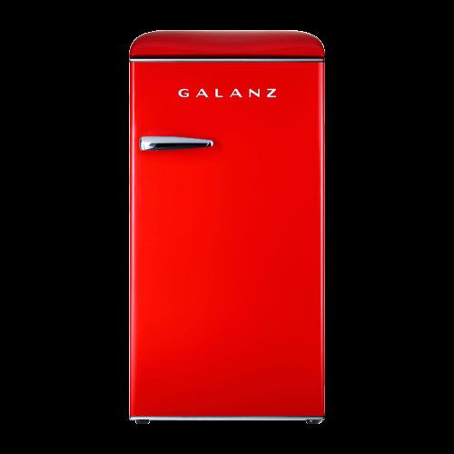 Galanz 3.3 Cu Ft Retro Single Door Refrigerator in Hot Rod Red