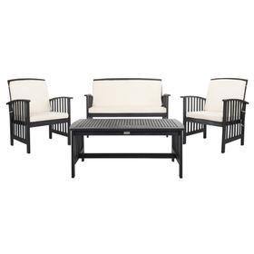 Carson 4 PC Outdoor Set - Black / White