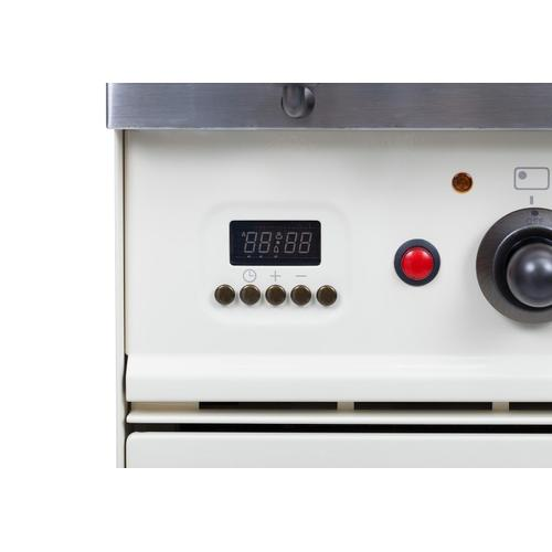 Nostalgie 36 Inch Dual Fuel Natural Gas Freestanding Range in Stainless Steel with Bronze Trim